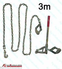 3m FENCE CHAIN STRAINER - TRIPLE SWIVEL - PLAIN BARB WIRE GRIPPLES ELECTRIC LONG