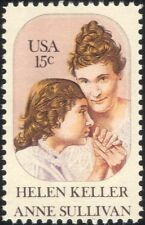 USA 1980 Helen Keller/Blind/Deaf/Medical/Health/Disabled/People/Writer 1v n45000