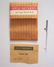 VINTAGE GROZ-BECKERT PRECISION INDUSTRIAL SEWING MACHINE NEEDLES - 2 BOXES - 500
