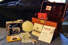 Vintage Polaroid Highlander 80-A Land Camera W/Leather Case/Assessories Mint sb