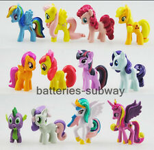 New Lot of 12 pcs My Little Pony Friendship is Magic Action Figures Cake Toppers