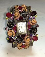 Beaded Boho Hippie Bracelet Romantic Watch Quartz Needs New Battery Women's