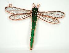 Green Dragonfly Stained Glass Suncatcher