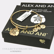 Authentic Alex and Ani Sand Dollar II Rafaelian Gold Expandable Bangle