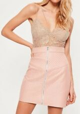 Missguided Nude Corded Lace Harness Bodysuit UK 4