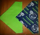 SEATTLE SEAHAWKS  NFL HOMEMADE 2 SIDED DOG SCARF (PICK SIZE)