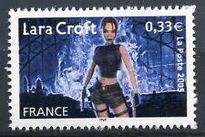 STAMP / TIMBRE FRANCE NEUF N° 3850 ** HEROS DES JEUX VIDEO / LARA CROFT