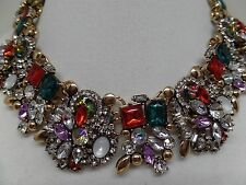 GORGEOUS MULTI-COLORED AURORA BOREALIS CRYSTAL CHOKER NECKLACE!  BRAND NEW!