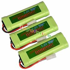 3 pcs 7.2V 3800mAh Ni-Mh rechargeable battery pack RC w/ Tamiya Plug USA