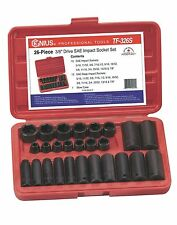 "Genius Tools 26PC 3/8"" Dr. SAE Impact Socket Set TF-326S"