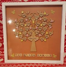 Large Personalised Family Tree Scrabble Frame Christmas Gift Idea
