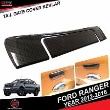 Carbon Kevlar Tailgate Cover Trim FORD RANGER PICKUP MK2 T6 WILDTRAK 2012-2016