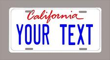 "California custom novelty license plate-your name or text 6""x12""-FREE SHIPPING C"