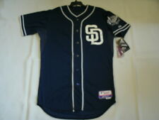 Authentic Majestic SIZE 52 2XL SAN DIEGO PADRES BLUE, COOL BASE, ON FIELD Jersey