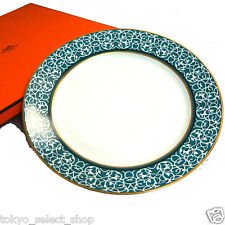 """Auth Hermes Porcelaine Attelage Or 27cm/10.5"""" A horse drawn carriage melody +Box"""