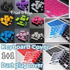 Silicone Anti Dust Plugs+ Keyboard Skin Cover for Laptop Apple MacBook Pro13