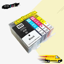 4PK 920 XL Ink Cartridge For HP 920XL Officejet 6000 6500 6500a 7000 7500a chips