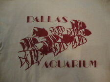 Vintage 80's Dallas Aquarium Fish Marine life 80's gray T Shirt Adult Size XS