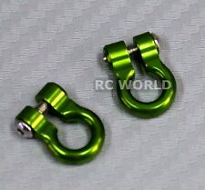 RC 1/10  Scale Truck  Accessories METAL ANCHOR SHACKLES - GREEN - (2)
