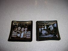 VTG RETRO JAMAICA LIMBO & STEEL BAND MINI SMOKE GLASS DISH SET