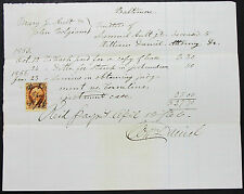 US interev two cents assegno bancario 1866 Samuel Ault John Bolgiano Document (l-2294+