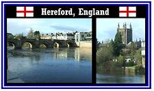 HEREFORD, ENGLAND - SOUVENIR NOVELTY FRIDGE MAGNET - BRAND NEW - GIFT