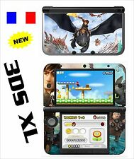 VINYL SKIN STICKER FOR NINTENDO 3DS XL - REF 199 HOW TO TRAIN YOUR DRAGON