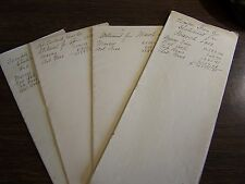 ANTIQUE - MOUNT LOOKOUT COAL CO - ROYALTY STATEMENT LOT OF FOUR DIFFIERENT