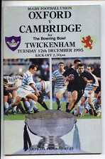 (Gs895-100) Oxford vs Cambridge, Rugby Union Programme, Twickenham 1995 EX