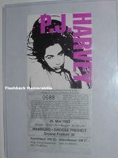 P. J. HARVEY Unused 1993 Concert PICTURE Ticket HAMBURG GERMANY 'Rid Of Me' RARE