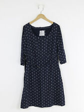 Fat Face Womens Navy Ditsy Dress Size 14