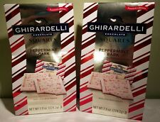 Ghirardelli Limited Edition Peppermint Bark Squares Bag, 7.9 oz X 2