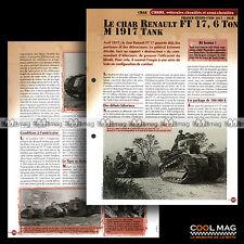 #vm048.03 ★ TANK CHAR RENAULT FT 17, 6 TON M 1917 WW1 ★ Fiche Véhicule Militaire