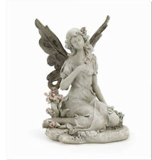 Sitting Fairy and Flowers Outdoor Garden Statue