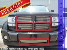 GTG, 2007 - 2011 DODGE NITRO 5pc CHROME UPPER & BUMPER REPLACMENT BILLET GRILLE