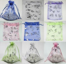 25PCS Mixed Butterfly Organza Jewelry Packing Wedding Favor Gift Bag 9*7CM