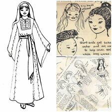 """Vintage 20"""" Biblical Doll pattern great for Sunday school church project."""
