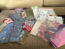 ASSORTED CARD MAKING BUNDLE TISSUE PAPER CUTTER OVER 50 STICKER SHEETS CARD