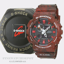 Authentic Casio G-Shock Men's G-Lide Red Digital Watch GAX100MB-4A