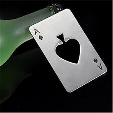 Wholesale Smart Poker Card Ace of Spades Bar Tool Soda Beer Bottle Cap Opener CN