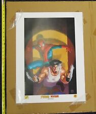 Ultimate Spiderman and Wolverine Team-Up DF Lithograph Matt Wagner 2001 T