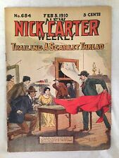 Nick Carter Weekly - February 1910 No 684 - Street & Smith, Original Pulp - RARE