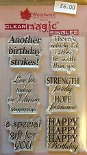 Woodware Clear Magic Everyday Verse stamp set JGS379