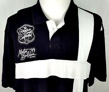 Rocawear Mens Polo Shirt Size XXL 2XL Master Builders 99 Logo Black White Cotton