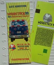 Woodstock '99 Music Festival concert ticket (Unused MINT Condition!!) RARE ~ New