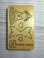 WOODEN DIE CUTTER- PRINCESS/FAIRY OUTFITS, Use in Sizzix Big Shot, VERY RARE!!!