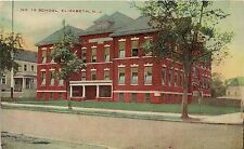 No. 10 School in Elizabeth NJ Postcard
