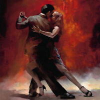 New Modern Vintage Art Oil Paintings Painting Canvas Lover Tango Dance (no frame