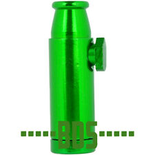 Green Snuff Bullet Box Dispenser Snuffer New Metal Aluminum Snorter Rocket S2