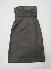 NWT J Crew Bridesmaid Brown Silk Tube Dress Sleeveless 4